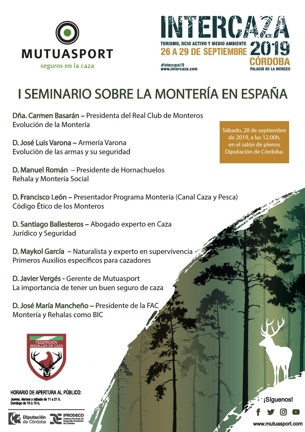 I seminario sobre la Montería en España organizado por la FAC y Mutuasport en Intercaza 2019