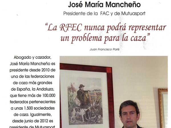 José María Mancheño, protagonista del número de enero de la revista Trofeo