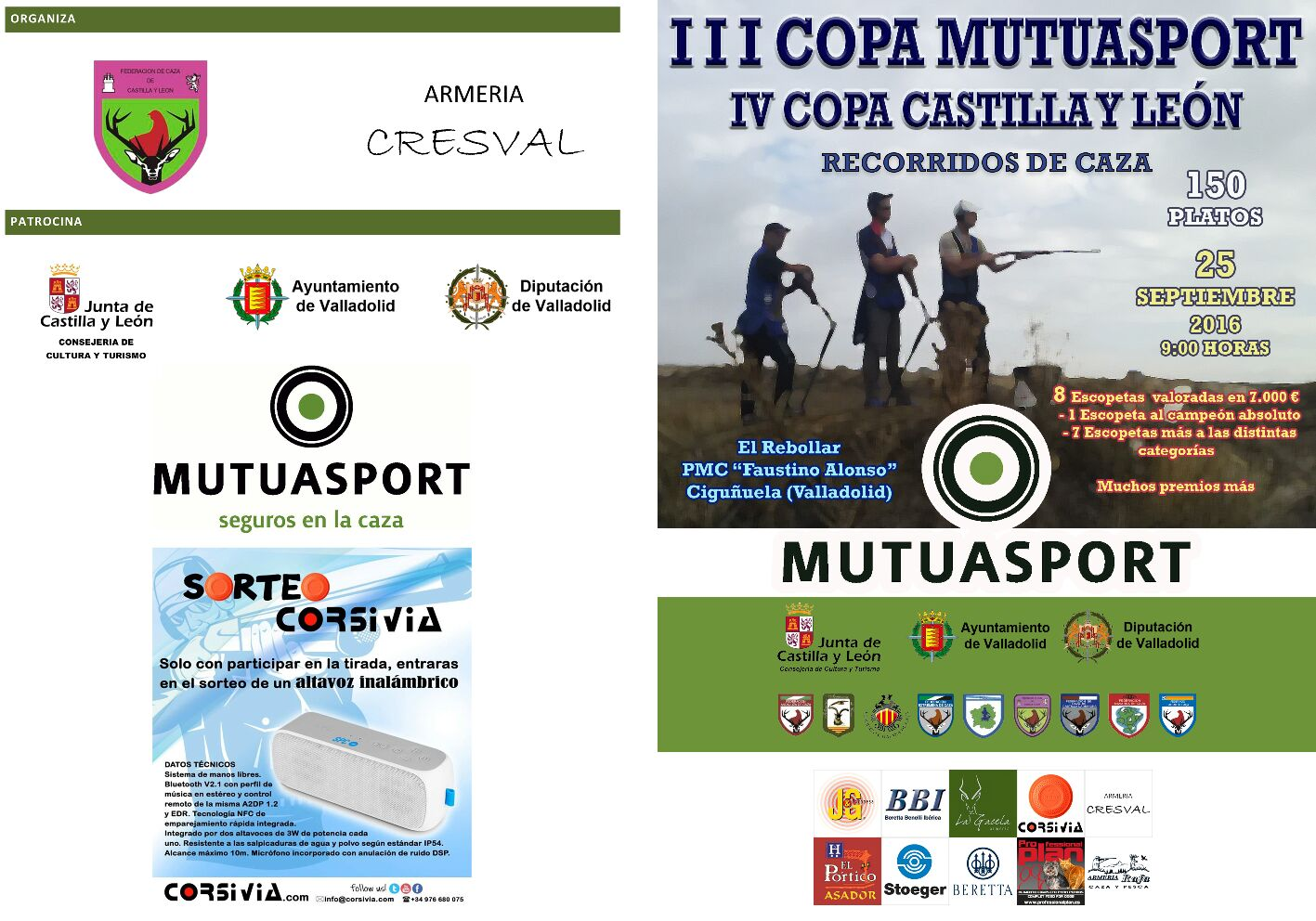 La  Federación de Castilla y León y Mutuasport organizan la III Copa Mutuasport y la IV Copa de Castilla y León de Recorridos de Caza