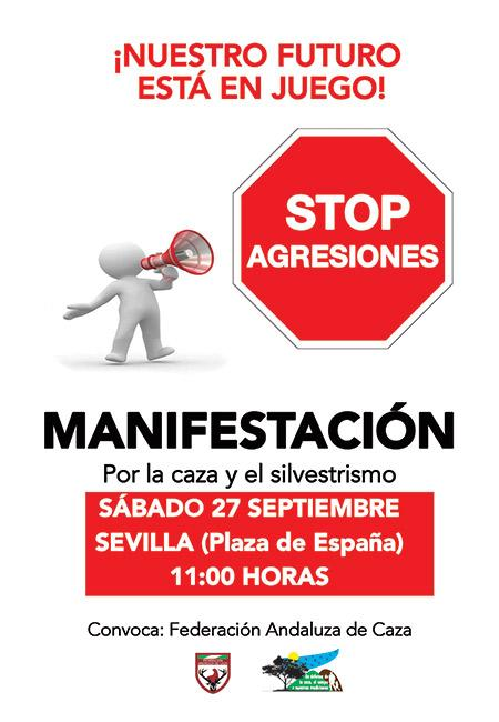 MUTUASPORT, con los cazadores andaluces en la manifestación del 27-S