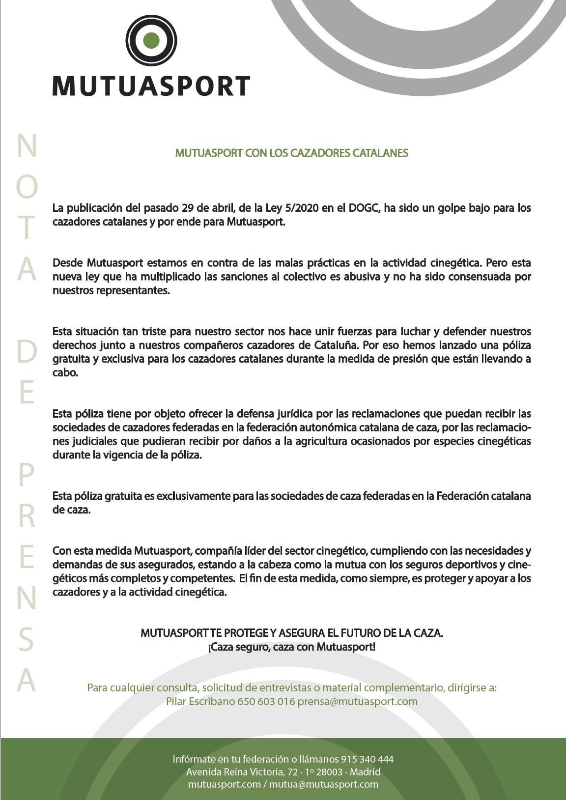 MUTUASPORT CON LOS CAZADORES CATALANES