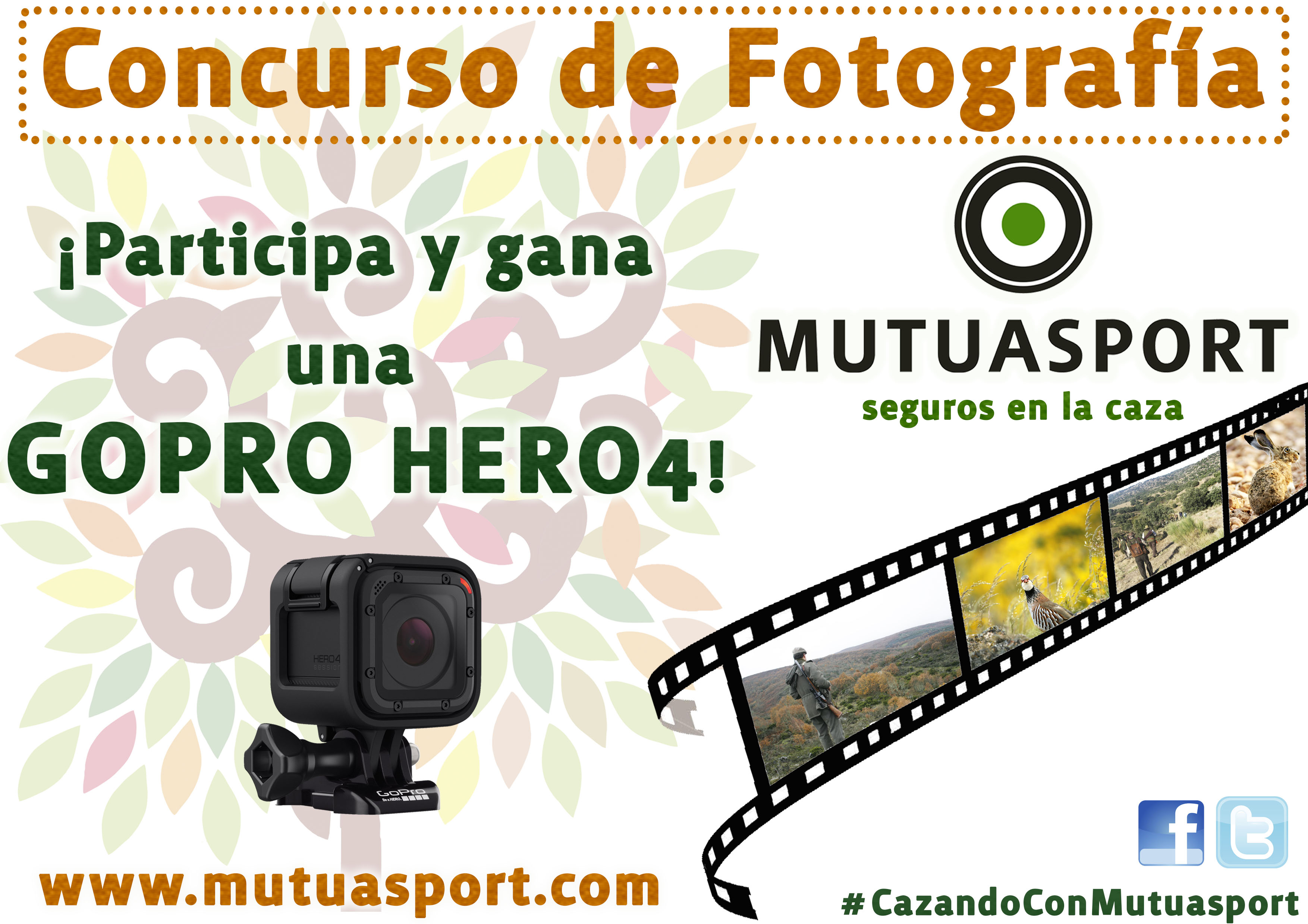 Mutuasport convoca un Concurso de Fotografía en Redes Sociales: #CazandoConMutuasport que dará comienzo el próximo miércoles día 15