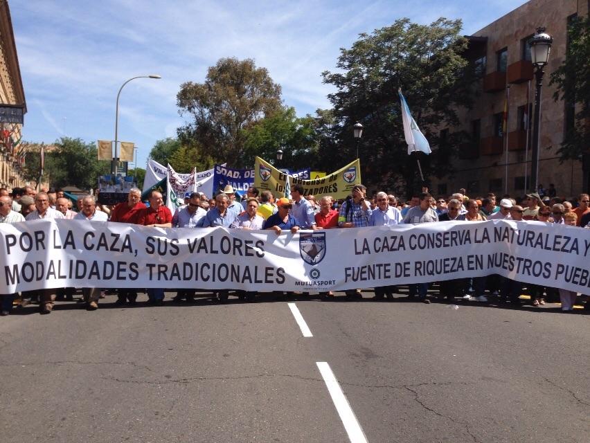 Mutuasport, en la manifestación en defensa de la caza convocada por la FCCM