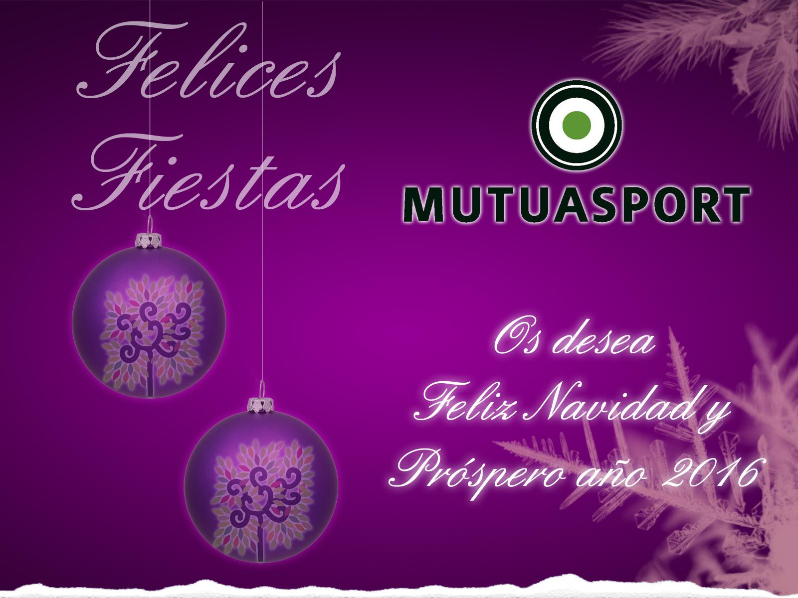 MUTUASPORT os desea Felices Fiestas