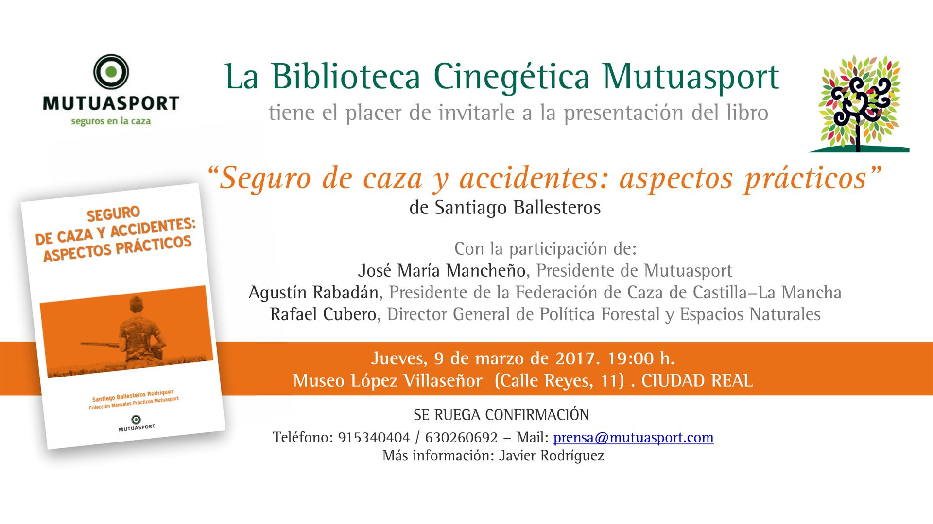 Presentación Biblioteca Cinegética de Mutuasport